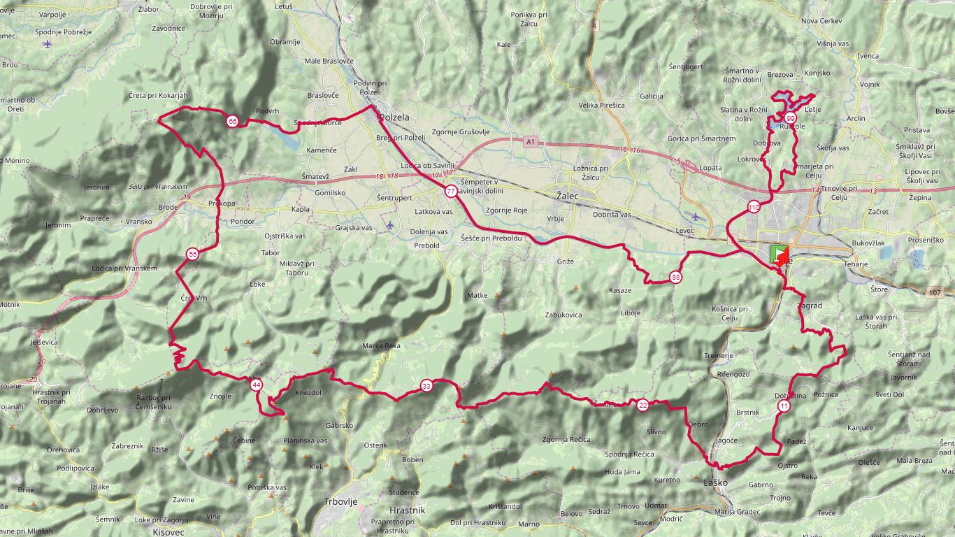 114 km course