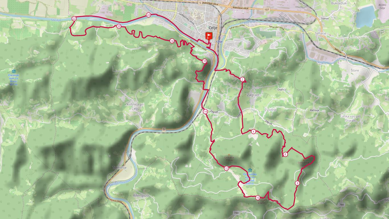 26 km course