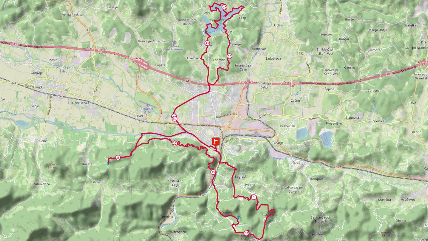 53 km course