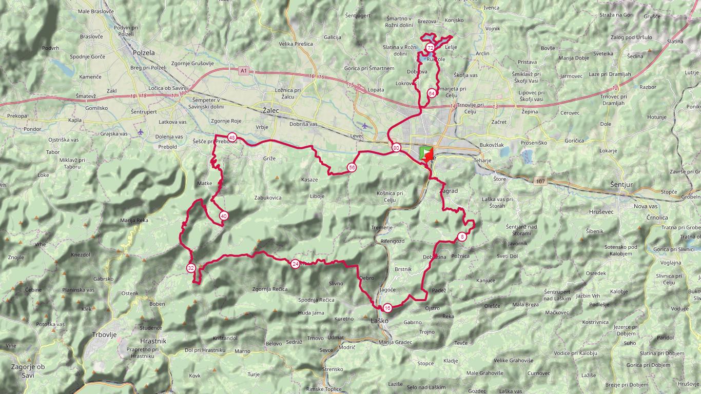 82 km course